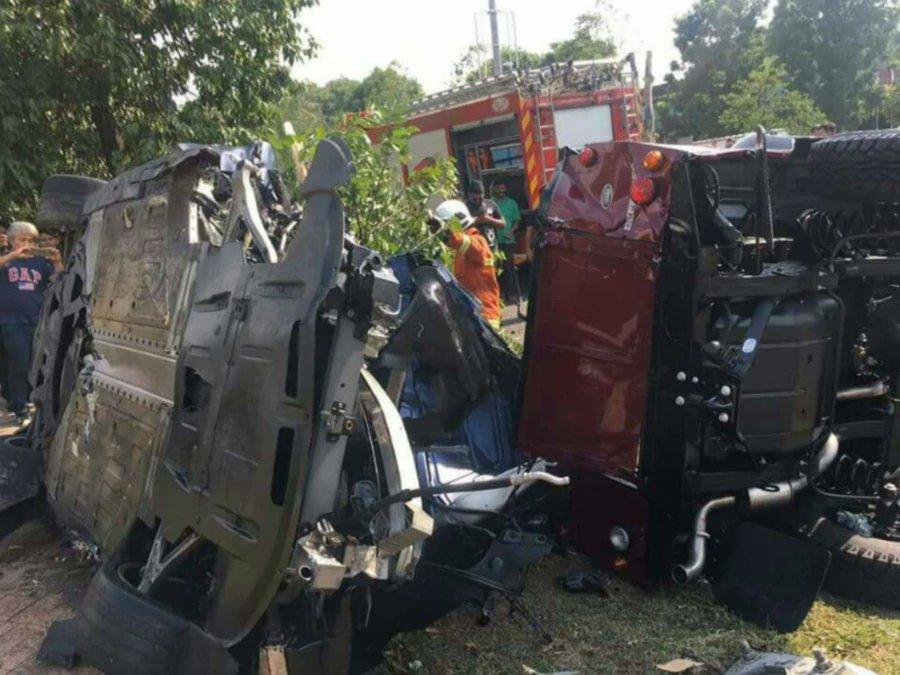 Man killed as Audi R8 supercar smashes into Land Rover