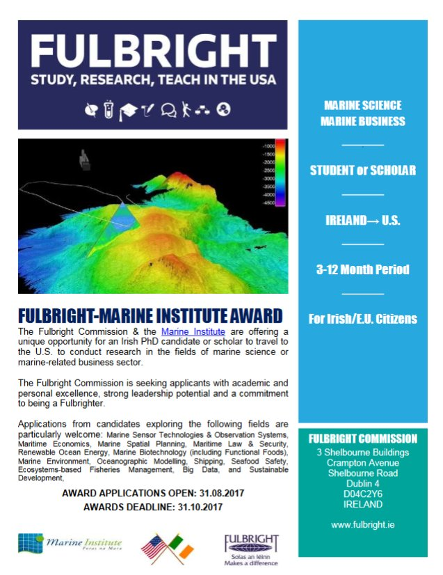 test Twitter Media - Apply for the #Fulbright-MI Award to conduct #MarineScience / #MarineBusiness research in the USA! D/L 31 Oct 2017 https://t.co/nvILc8aOcv https://t.co/H4eaz5403D
