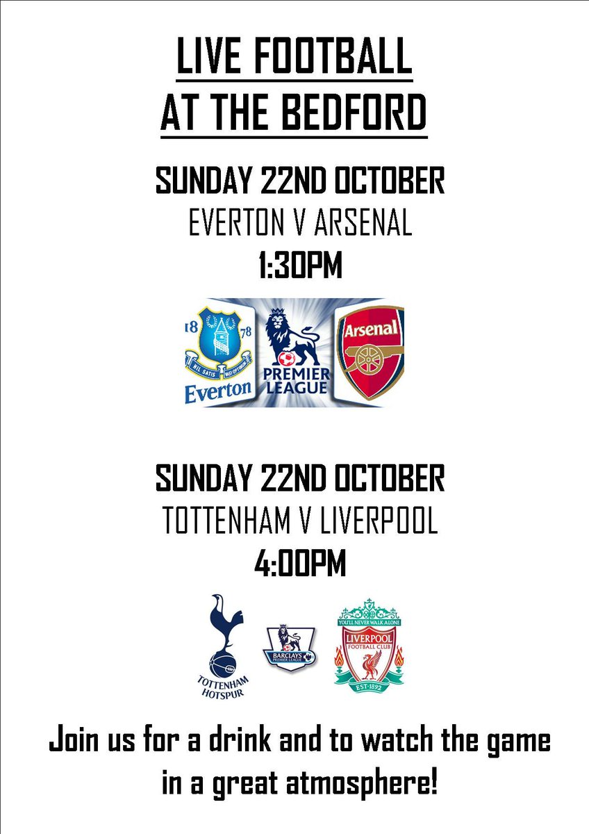 test Twitter Media - #LiveFootball #Bedford #TottenhamVLiverpool #EvertonVArsenal @thebedfordgc https://t.co/526o2FUYXP