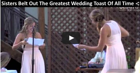Sisters Belt Out The Greatest Wedding Toast Of All Time https://t.co/HYl5oJZeBC A Must See - During Cai #video 2 https://t.co/298robxSM7