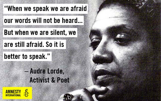 Audre Lorde �� To all the brave women speaking out this week: thank you for sharing your stories #MeToo https://t.co/QRay6fqzeW