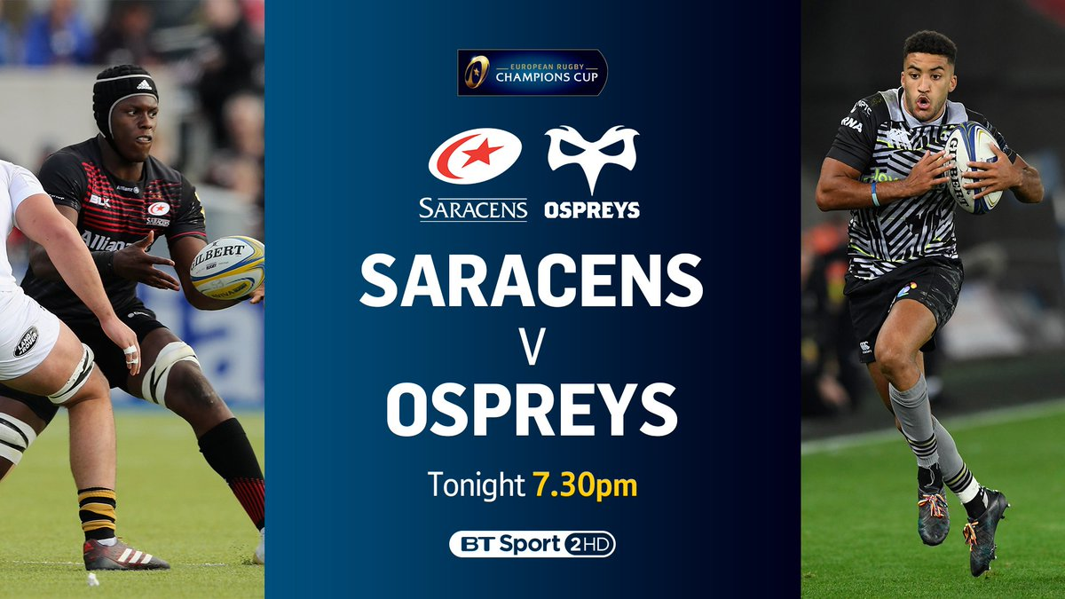 test Twitter Media - We have a cracker to round off a day of European Rugby...  🏉 Saracens vs. Ospreys 📺 BT Sport 2 HD 🕢 7.30pm https://t.co/ETrsC4TBOx