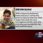Devin Suau loses courageous battle with rare brain cancer