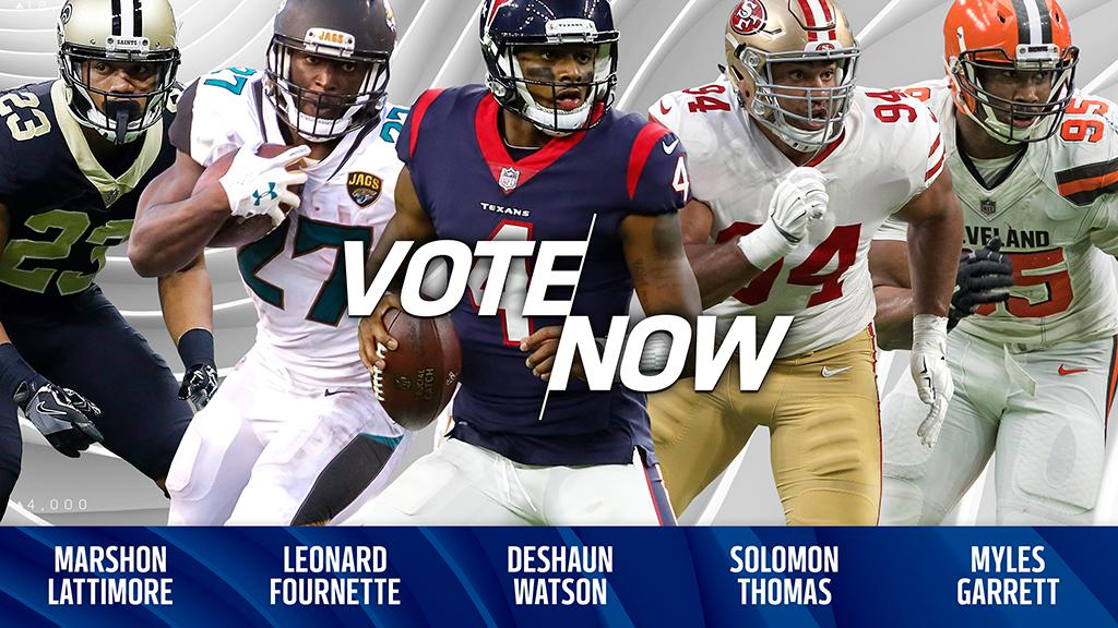 Lattimore. Fournette. Watson. Thomas. Garrett.  VOTE for the @pepsi Rookie of the Week: https://t.co/pcfchO4sl4 https://t.co/UULp9QyxLA