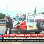Police warn against violence during elections