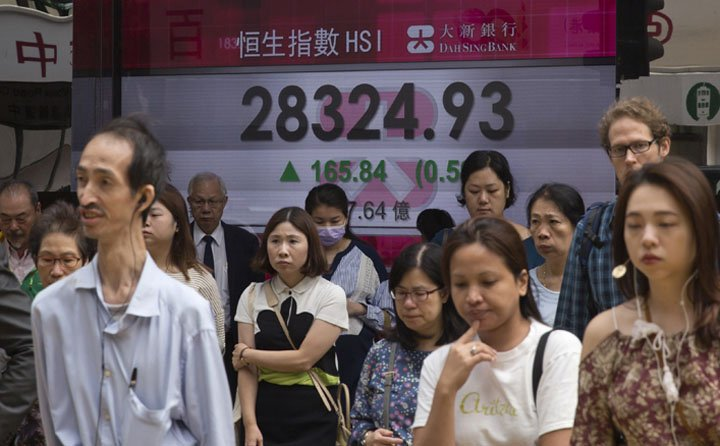 @BroadcastImagem: Bolsas asiáticas sobem com melhor perspectiva de reforma tributária nos EUA. Kin Cheung/AP