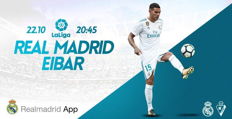 ⚽�� ¡Hoy jugamos! Sigue todos los detalles del partido �� @SDEibar con Real Madrid App  �� https://t.co/mWnH0ZD5YF https://t.co/rlwzVyGxEL
