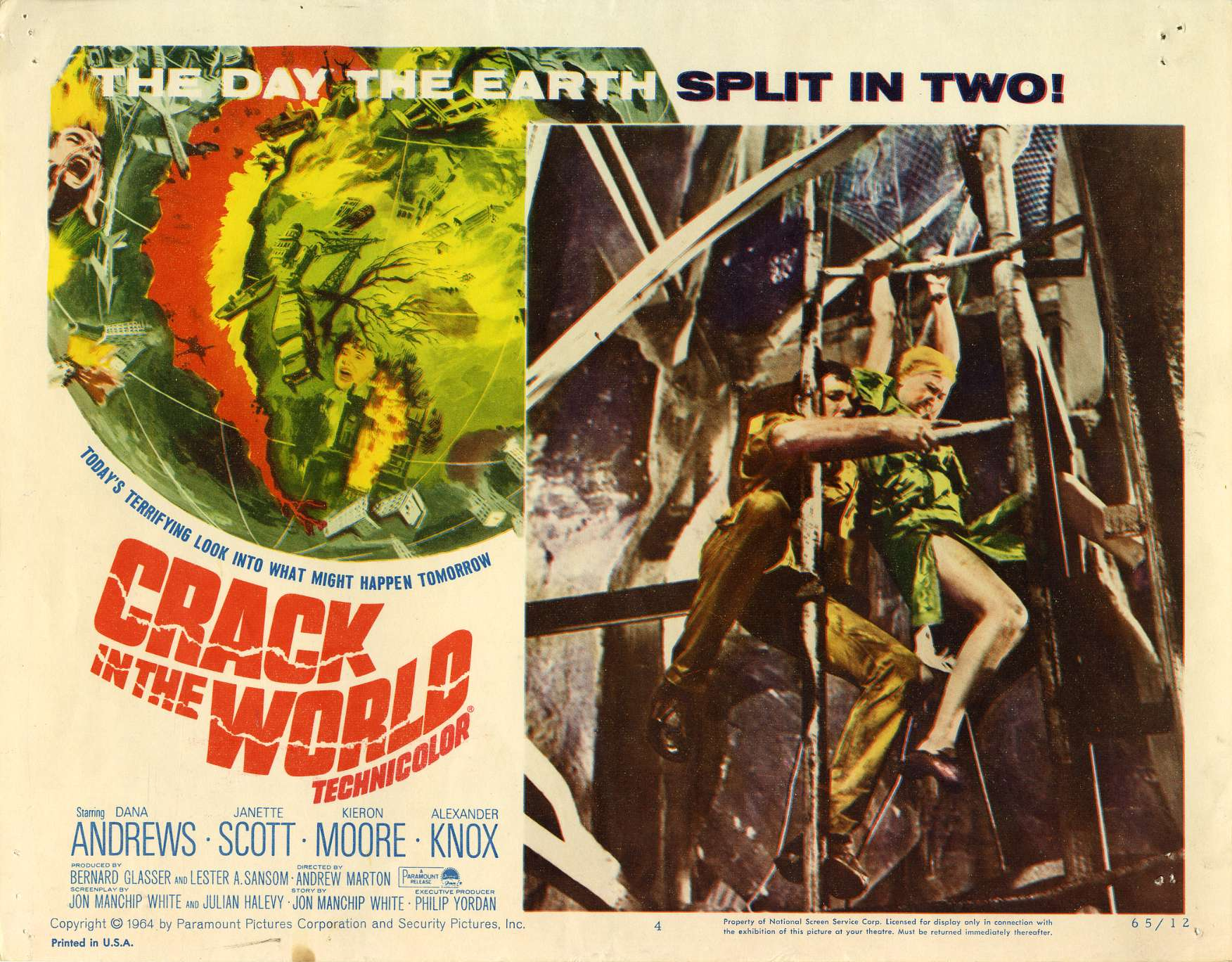 It's the last thing we need. 1965 science adventure Crack in the World imagines a world (literally) splitting in two. 11am. https://t.co/cJ3cNxRqWk