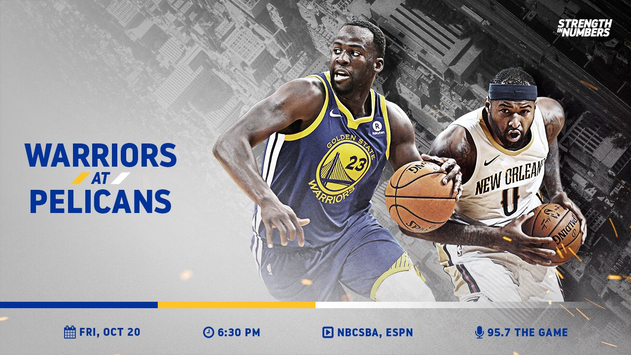IT'S GAME DAY! The Dubs take on the @PelicansNBA in their first road game of the season » https://t.co/LdiBH38Ko8 https://t.co/d511jSacpT