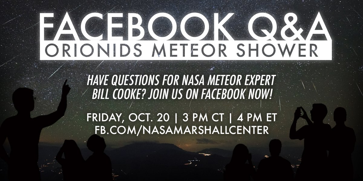 Join us on Facebook for a Q&A with @NASA meteor expert Bill Cooke! CLICK HERE >> https://t.co/NovOjeOw6y https://t.co/kALUmC9RLY
