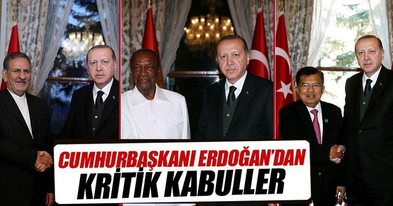 Cumhurbaşkanı Erdoğan'dan kritik kabüller