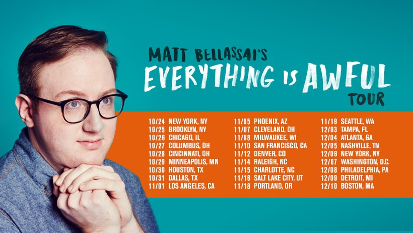 EVERYTHING IS AWFUL IS OUT IN 4 DAYS AND ALSO THE EVERYTHING IS AWFUL TOUR STARTS IN 4 DAYS  PRE-ORDER. GET YA TIX. https://t.co/NSvKNdGgqy https://t.co/4XOg0lsN4E