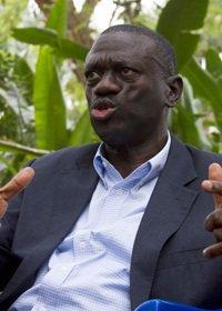 Uganda police hold opposition leader over attempted murder