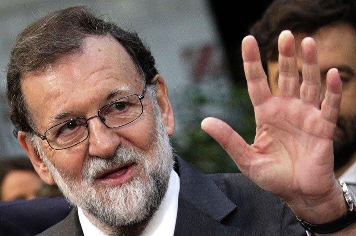@BroadcastImagem: Mariano Rajoy, primeiro-ministro da Espanha, diz que Catalunha viola leis da União Europeia. Olivier Matthys/AP