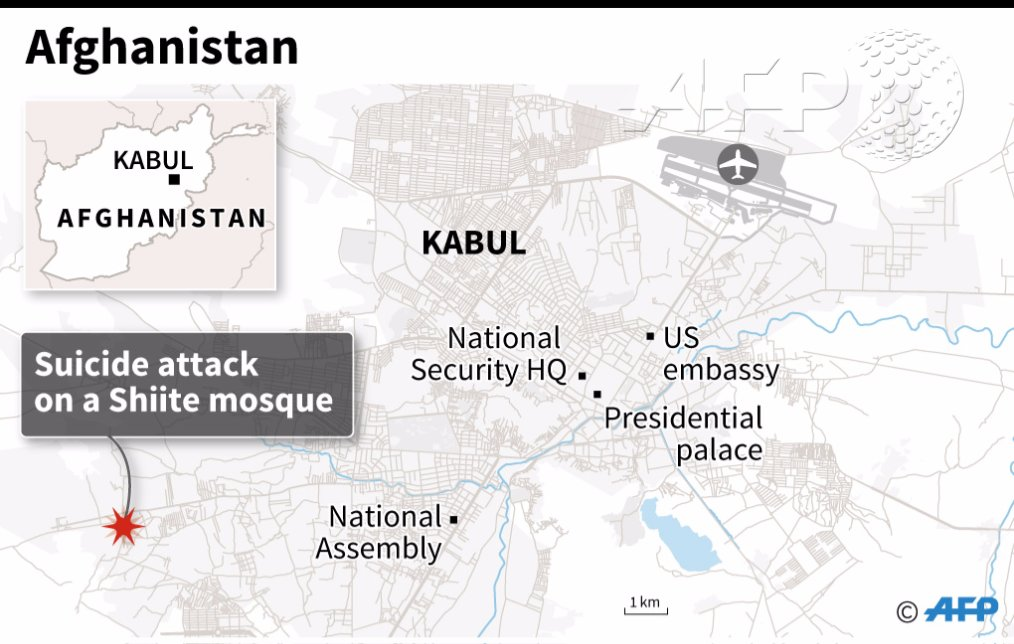 Nearly 60 dead in two suicide attacks on Afghan mosques: officials