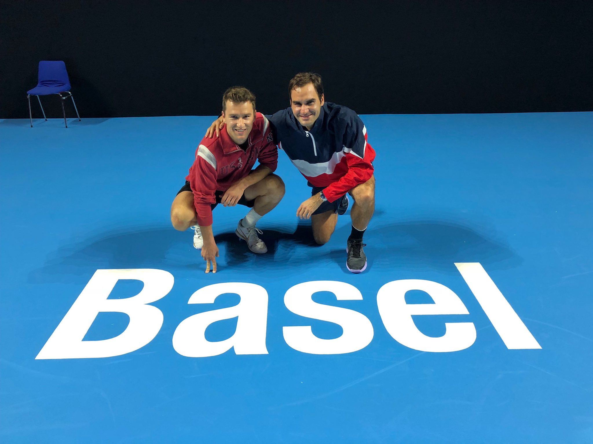 Basel ❤️ So happy to be back in ���� Here with my man the MC @mchiudinelli33 https://t.co/mU6U4aPGZC