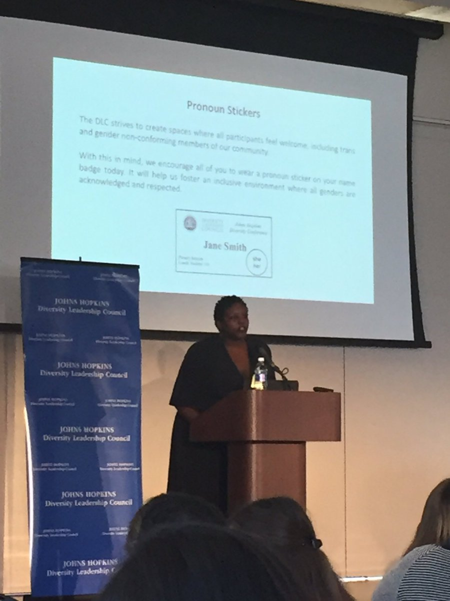 RT @ErwinHesse: Yoruba Richen, award-winning documentary filmmaker, closing our Diversity Conference at Hopkins. #dlcconf2017 https://t.co/…