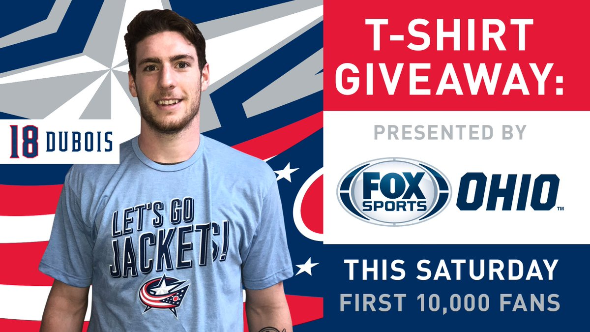 RT @BlueJacketsNHL: This t-shirt is super comfy.  Get one for yourself at the game tomorrow!  #CBJ https://t.co/bGVtTp5cQU