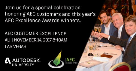 test Twitter Media - Join us for a special celebration at #AU2017 honoring this year's #AECExcellenceAwards winners. Reserve your seat: https://t.co/G1ZhC566Tt https://t.co/1JcvdRSf6m