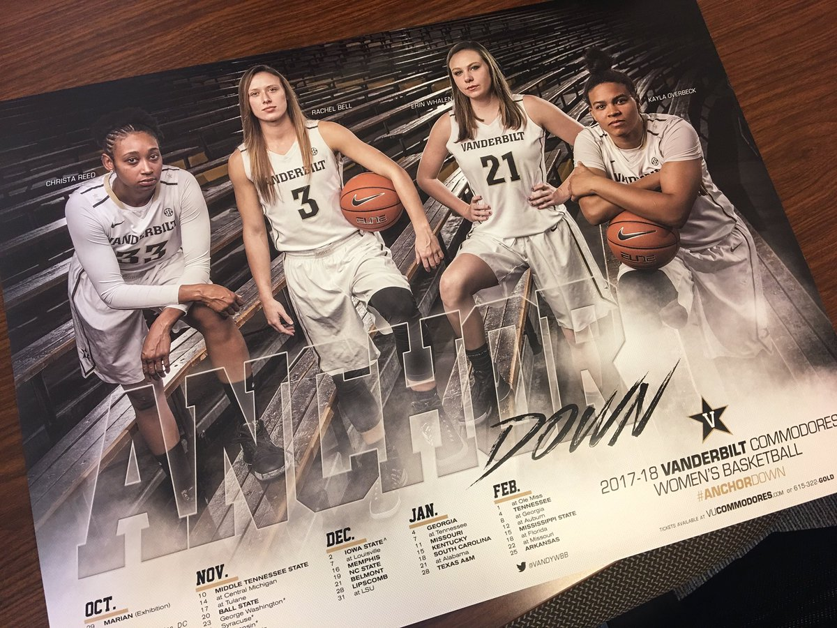 RT @VandyWBB: Hot off the press our 2017-18 POSTERS! Come get yours at our open practice Sunday from 1-4!!!! https://t.co/ePFyRNmjmu