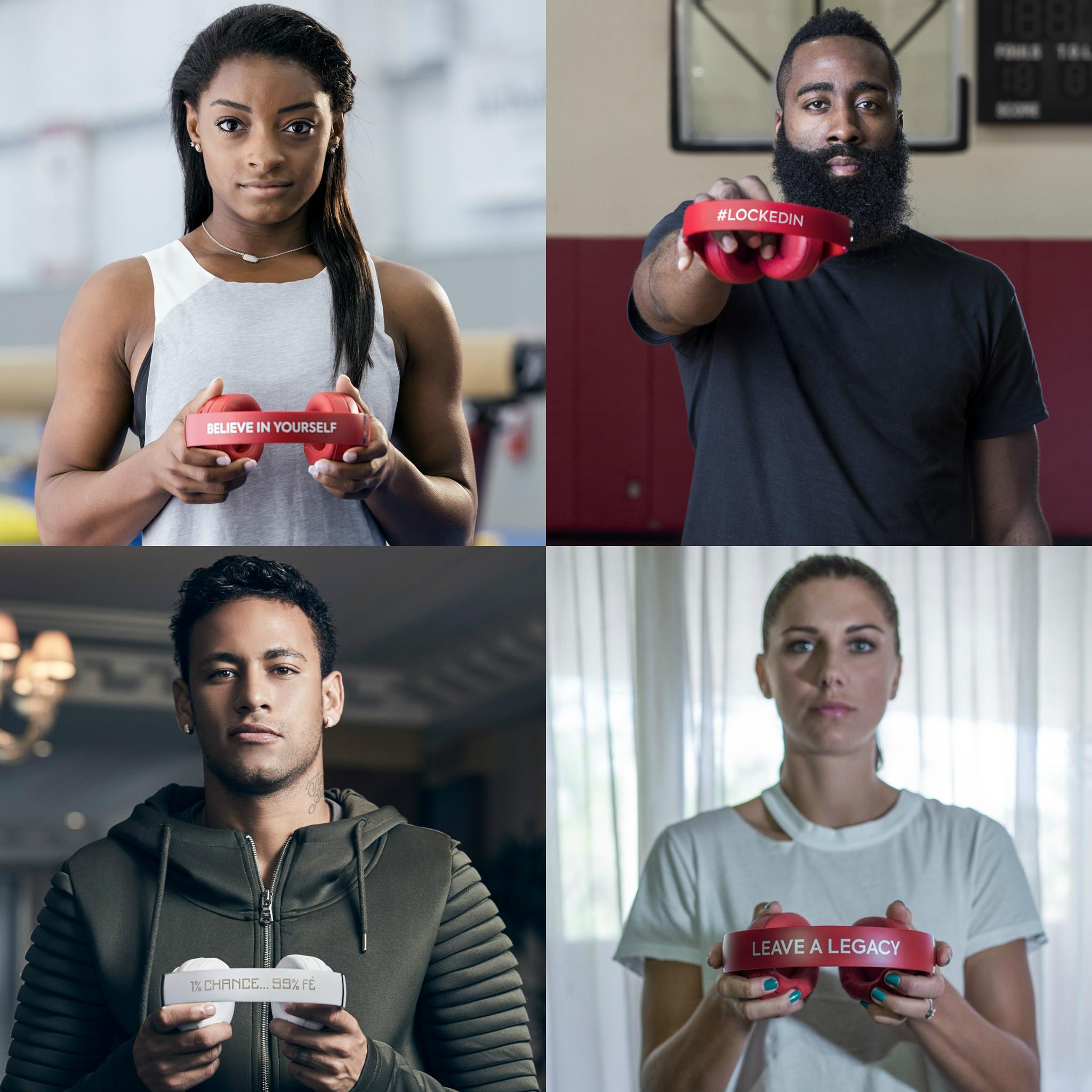 Athletes are showing off the mantra that took them to the top of their game #1of1 @beatsbydre. https://t.co/jsWdHi6SoE