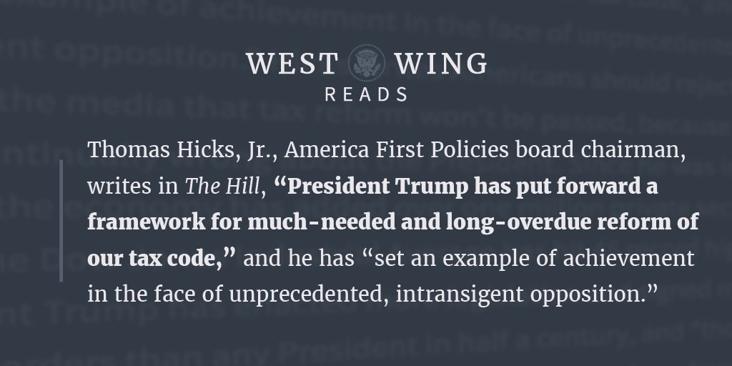 We rounded up what the West Wing staff was reading today, take a look: https://t.co/Itka6fMRnz https://t.co/6whDyKfgrc