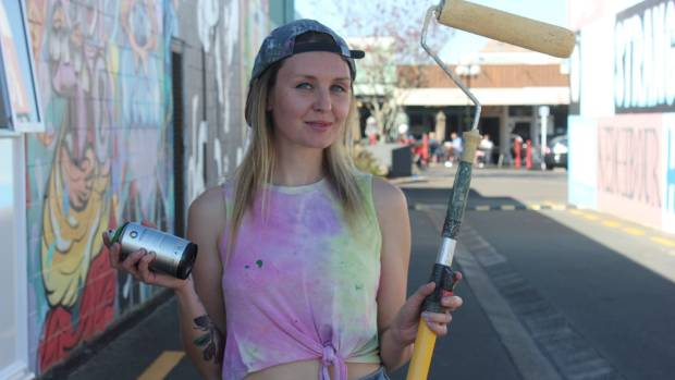 Street art not just for the boys, Taupo's Graffitiato Festival shows