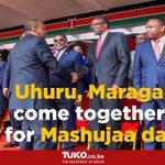 Uhuru, Maraga come together for Mashujaa day