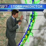 Few showers possible overnight, storms likely Saturday