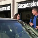 This mom drove her clunker to a shop for a free oil change. They gave her a car