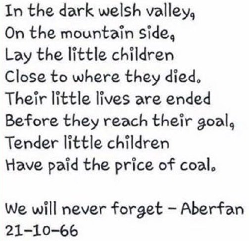 RT @SiHarries: #RIP #Aberfan https://t.co/hpyZwMU1mb