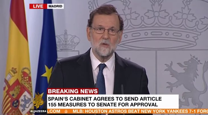 WATCH LIVE: Spanish prime minister addresses nation on measures against Catalonia government