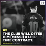 Barcelona CEO Says Blaugrana to Offer Lionel Messi a Lifetime Contract