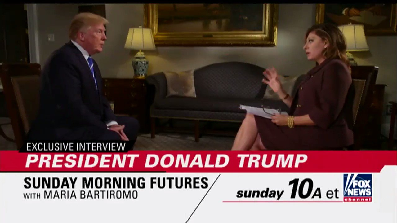 SUNDAY: On @SundayFutures, @MariaBartiromo goes one-on-one with @POTUS. Tune in at 10a ET on Fox News Channel! https://t.co/RNHJOA0eha