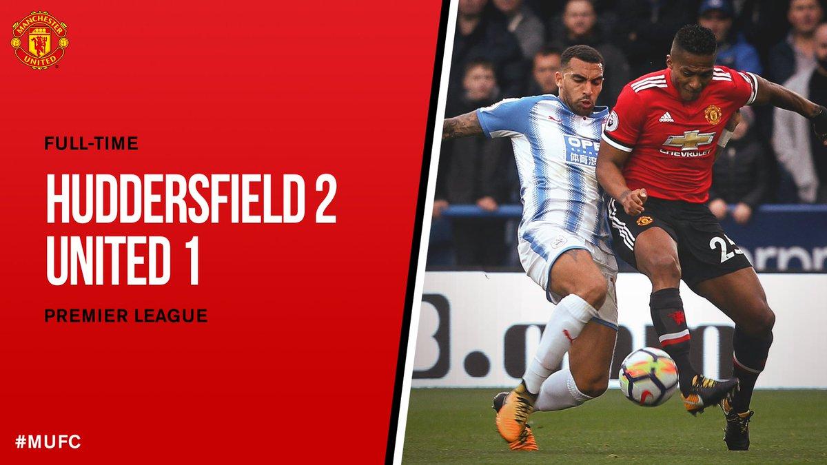 RT @ManUtd: FT: Huddersfield 2 #MUFC 1. #HUDMUN https://t.co/EtiFXrp1C3