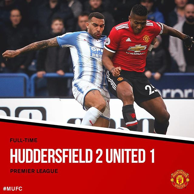 1st win against #ManUTD in 65 years. FT: Huddersfield 2 #MUFC 1. 📷: @manchesterunited https://t.co/DX35tcJ4rw