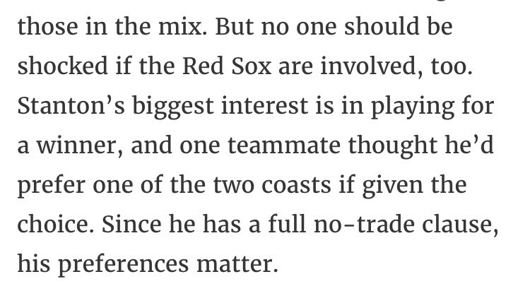 More Jon Heyman on the Red Sox and Giancarlo Stanton... https://t.co/lTRzZir6HL