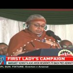 First lady Margaret Kenyatta asks Nyeri residents to back Uhuru