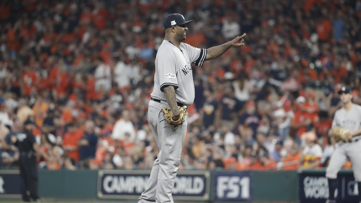 3 outs on 7 pitches in the 1st for Carsten Charles Sabathia!Trust in CC.
