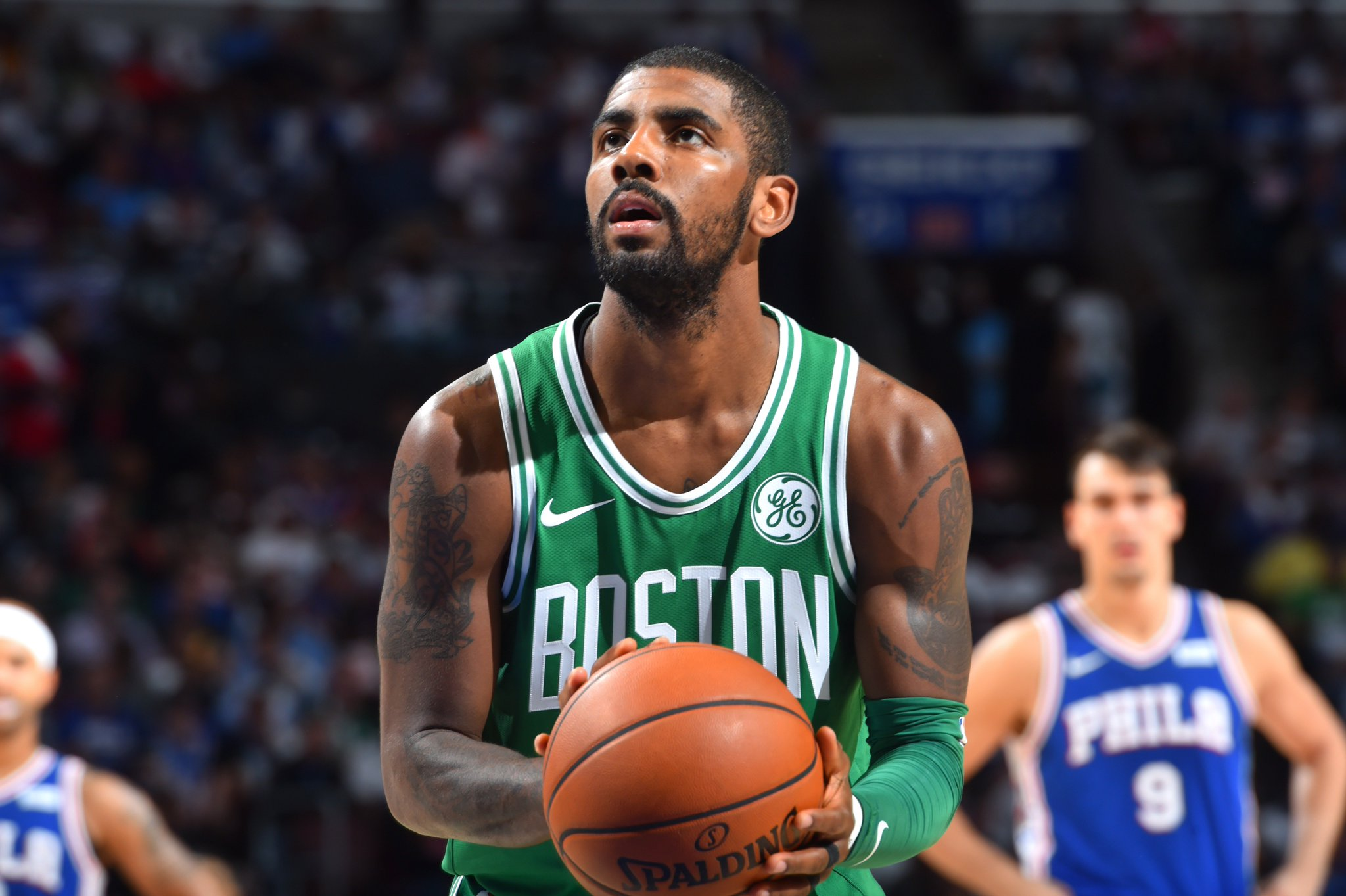 "Kyrie Irving on if he regrets making profane comments to fan: 'Hell no"" https://t.co/kEkLf0c4yR https://t.co/swd0waLDG5"
