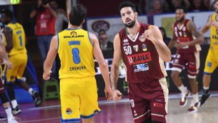 Basket, Serie A: Venezia-Cremona 92-81. Reyer troppo forte