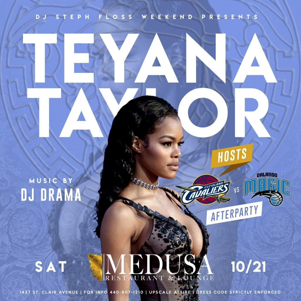 RT @djstephfloss: Yeah...get to Medusa early tonight! Cavs Afterparty x Teyana Taylor x DJ Drama ???????????????? https://t.co/S5oWww5Sfk