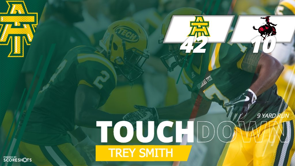 FB | Trey Smith scores his first career touchdown as a Wonder Boy, and Tech takes a 42-10 lead! #FightOn #theGAC https://t.co/RbzozYWoCR