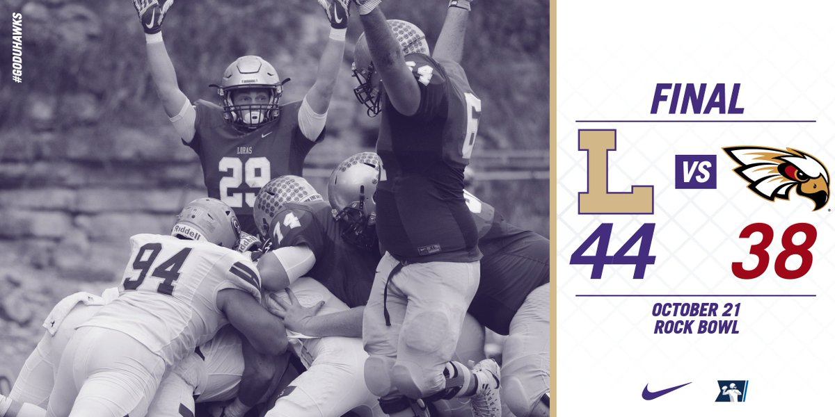 Duhawks hold on to win 44-38 over Coe! // #GoDuhawks #d3fb https://t.co/L1g9CdEJ1K