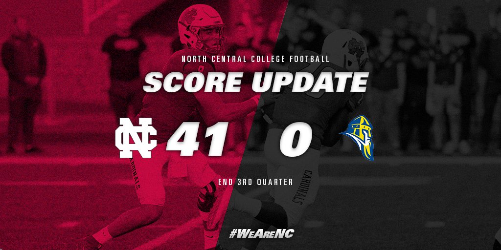 End of 3rd Quarter 41-0. Ready for more! #WeAreNC #d3fb https://t.co/uYBj1UKaPi