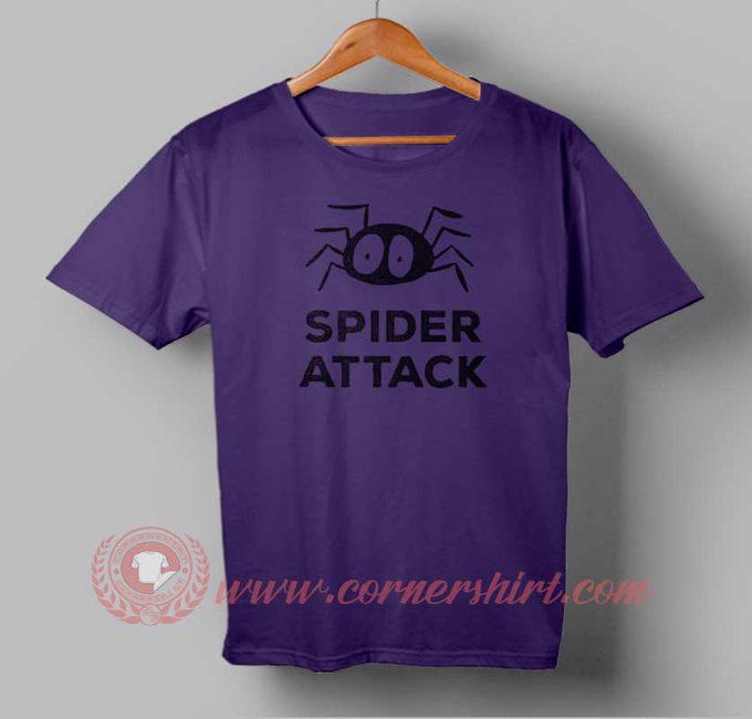 Spider Attack Custom Design T shirts. Custom Design Shirts