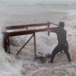 Storm Brian Hit Ireland UK United Kingdom Europe - Hurricane Flood Waves Ouragan England 10/21/2017