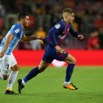 Controversial Deulofeu goal helps Barca ease past Malaga