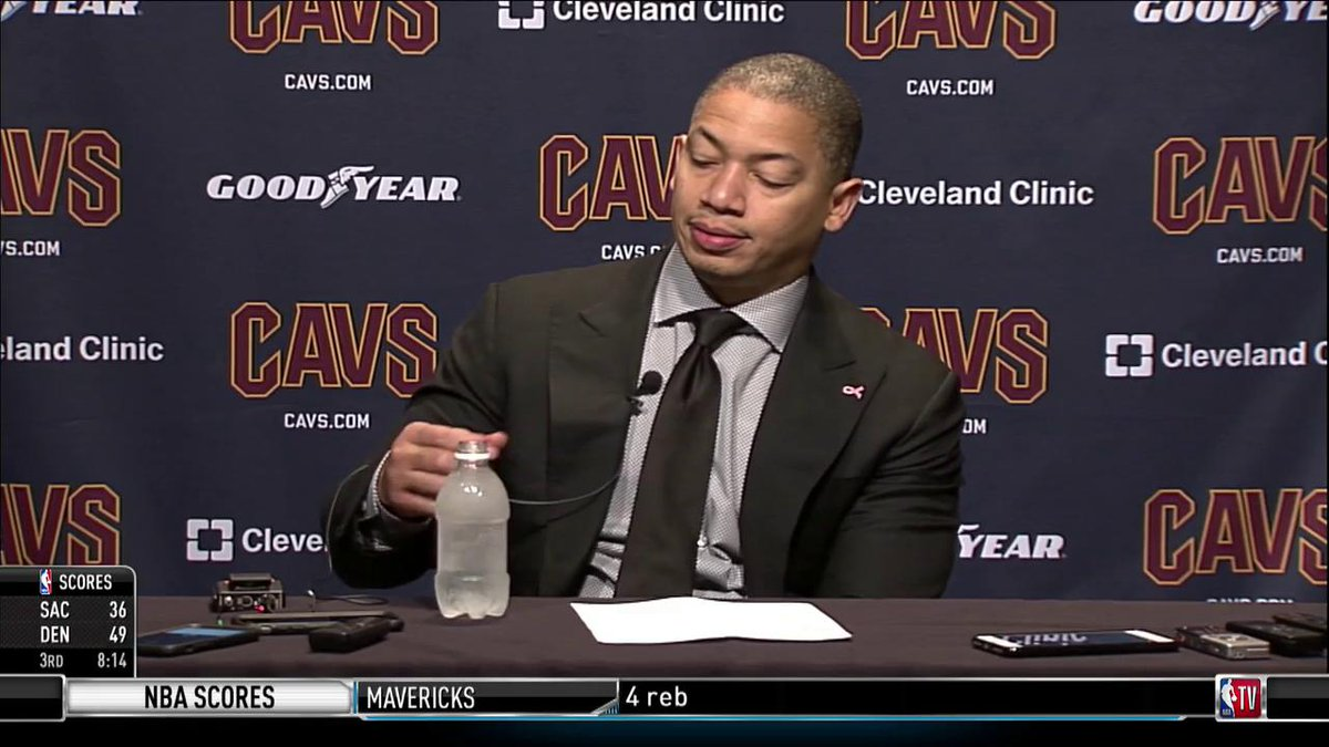 Someone get Ty Lue another water bottle... 😂 https://t.co/rV3mqSonI0
