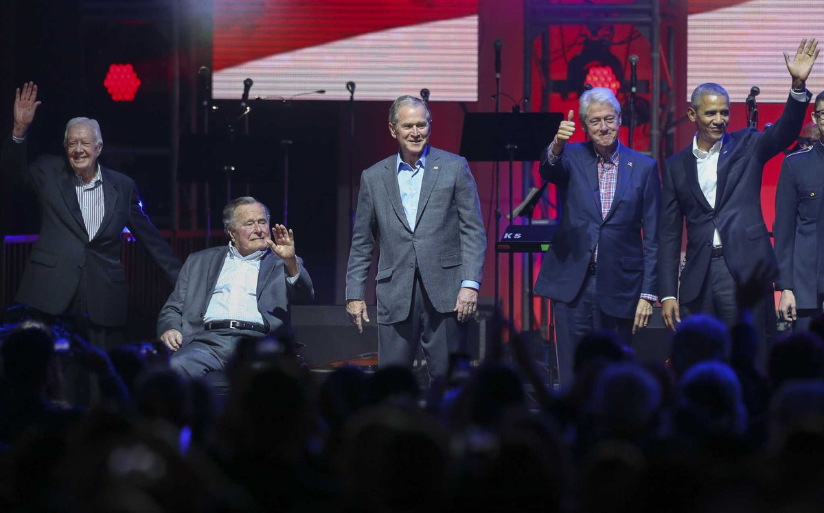 Former presidents, country stars unite for hurricane relief concert at Texas A&M